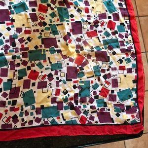 Vintage geometric print Liz Claiborne neckerchief